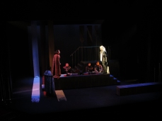 Macbeth confronts Banquo's ghost.